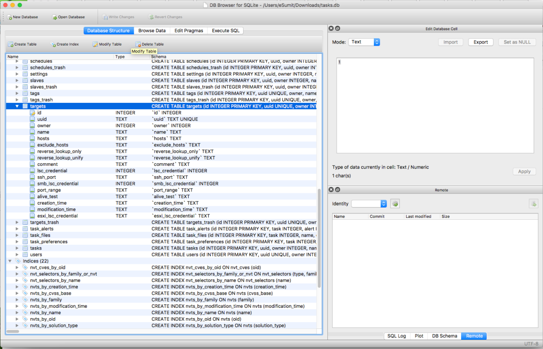 OpenVas Database