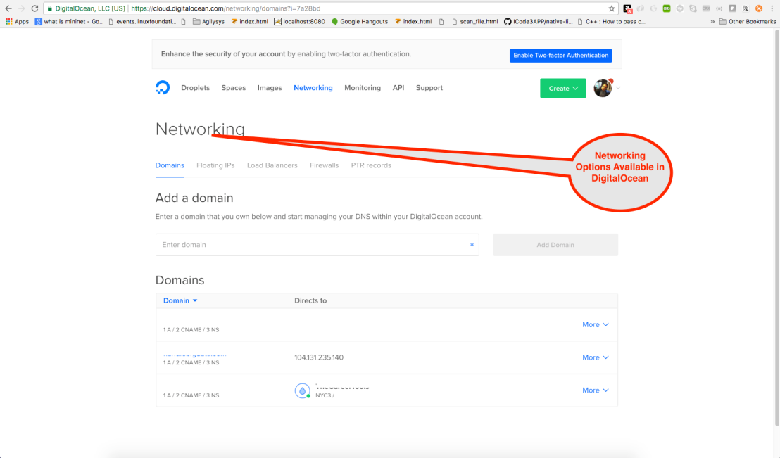 Networking Options Available in DigitalOcean