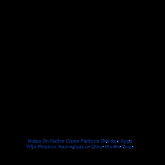 Notes On Native Cross Platform Desktop Apps With Electron