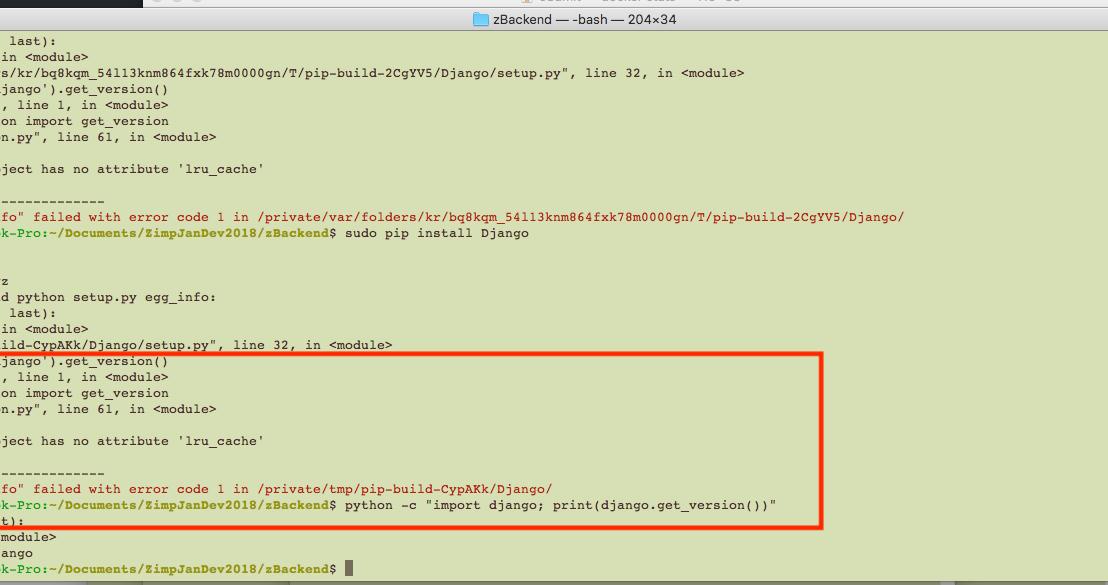 pip install virtualenv mac