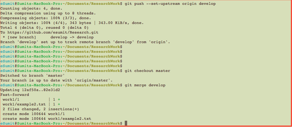 Quick Git Exercise from Init to Branch to Merge And Little More