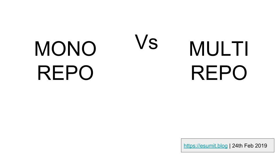 Mono repo vs Multi-repo structure for Microservices, What to choose?